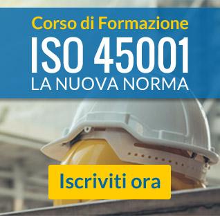 Partecipa al corso sulla nuova ISO 45001