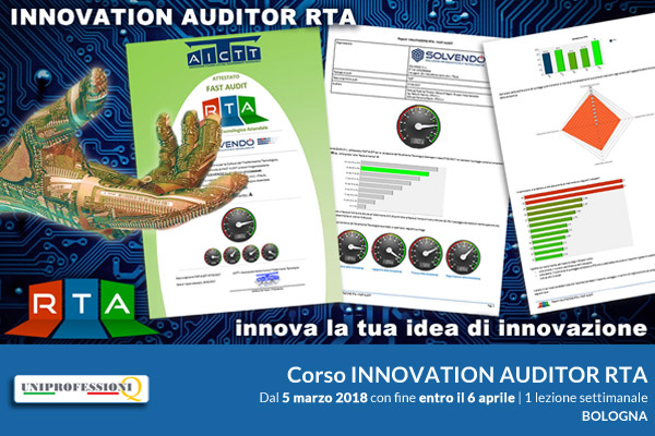 Corso per la qualifica di Innovation Auditor RTA